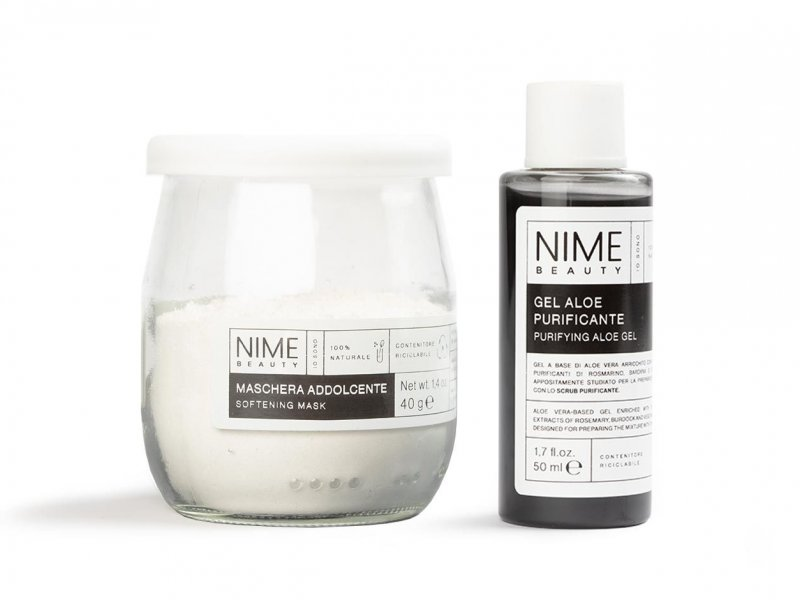 NIME BeautyMaschera Viso Fai da Te Addolcente + Gel Aloe Purificante