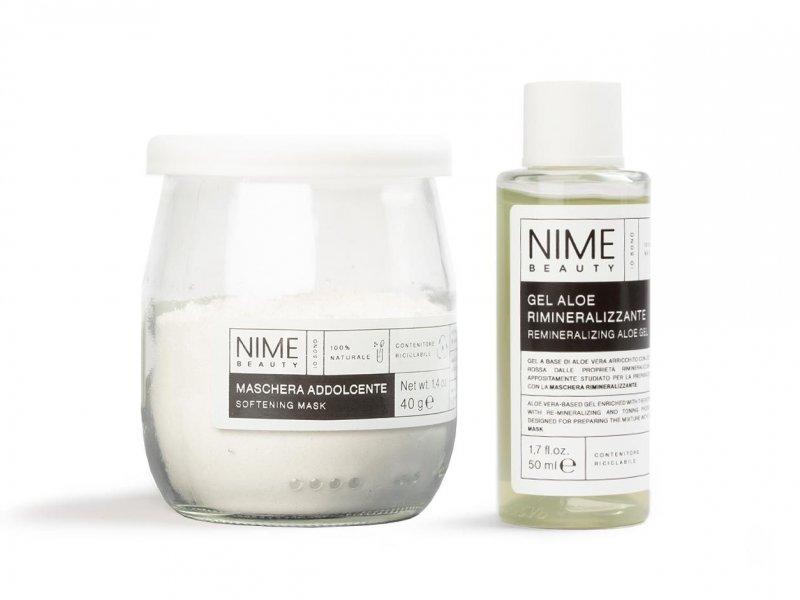 NIME BeautyMaschera Viso Fai da Te Addolcente + Gel Aloe Rimineralizzante