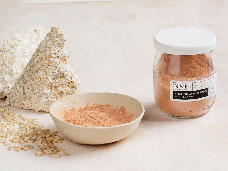 NIME BeautyMaschera Viso Fai da Te Antiossidante+Gel Aloe Rimineralizzante
