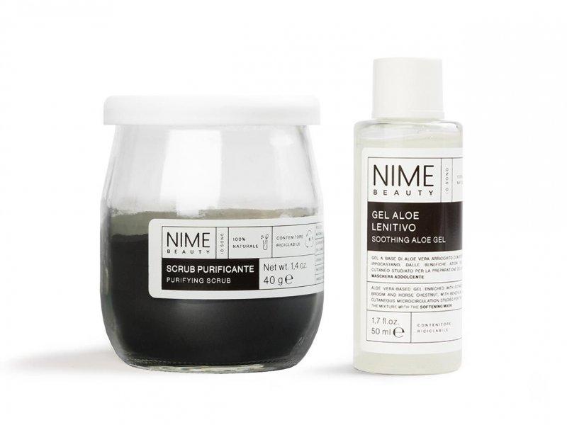 NIME BeautyScrub Viso Fai da Te Purificante + Gel Aloe Lenitivo