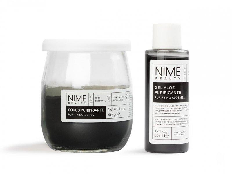 NIME BeautyScrub Viso Fai da Te Purificante + Gel Aloe Purificante