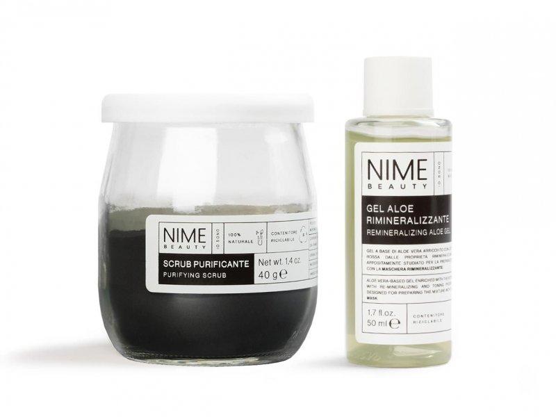 NIME BeautyScrub Viso Fai da Te Purificante + Gel Aloe Rimineralizzante