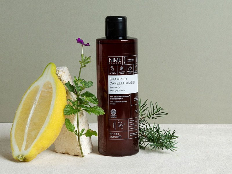 NIME BeautyShampoo Capelli Grassi con estratto biologico di cardamomo