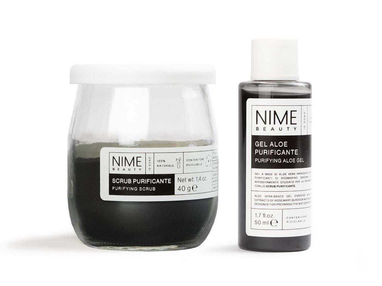 Scrub Viso Fai da Te Purificante + Gel Aloe Purificante - v1