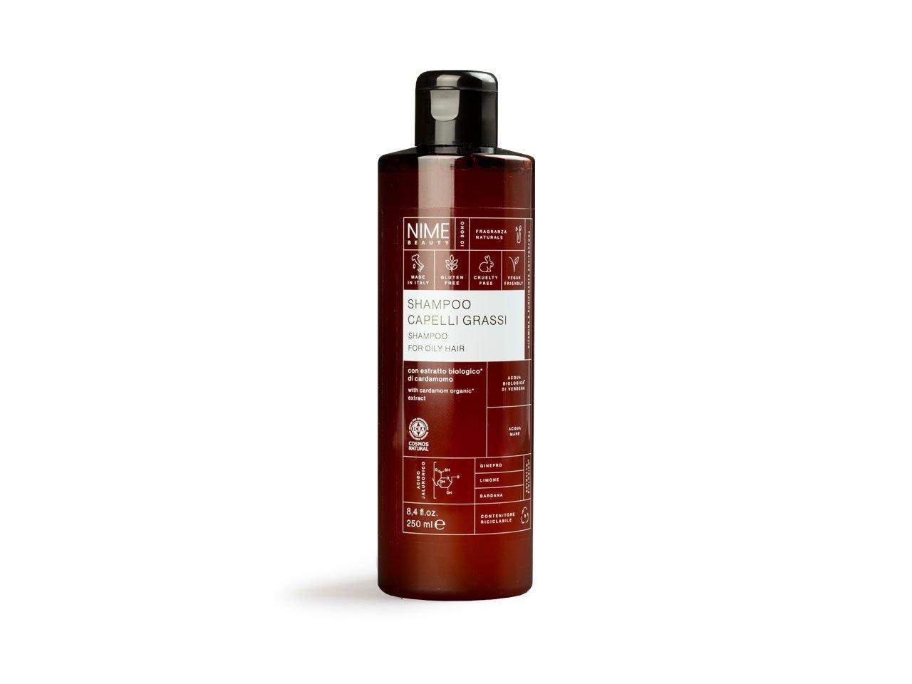 Shampoo Capelli Grassi con estratto biologico di cardamomo - v2