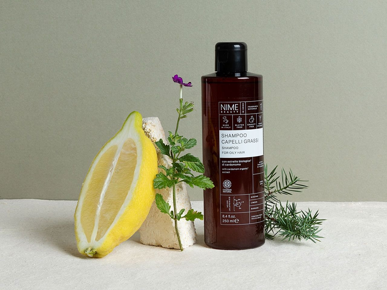Shampoo Capelli Grassi con estratto biologico di cardamomo - v1
